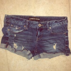 Pants - Express distressed jean shorts